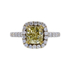 1.49 ct. Cushion Cut Halo Ring, Fancy, VS1 #2