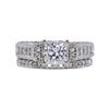 0.98 ct. Princess Cut Bridal Set Ring, F-G, I1 #2