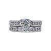 0.91 ct. Round Cut Bridal Set Ring, I, VS2 #3