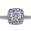 2.02 ct. Cushion Cut Halo Ring #1