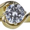 1.13 ct. Round Cut Bridal Set Ring, F, VS1 #4