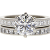 1.51 ct. Round Cut Bridal Set Ring, G, VS1 #3