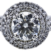 1.03 ct. Round Cut Halo Ring, J, SI1 #4