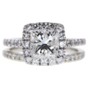 1.67 ct. Princess Cut Bridal Set Ring, H, I1 #1