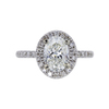 2.00 ct. Oval Cut Halo Ring, I, VS2 #3