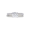 1.07 ct. Round Cut Bridal Set Ring, J, SI1 #3