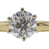1.05 ct. Round Cut Solitaire Ring, G, I1 #4