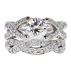 1.41 ct. Round Cut Bridal Set Ring, J, VS2 #2