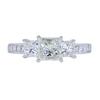 0.99 ct. Princess Cut 3 Stone Ring, J, VS1 #3