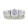 1.04 ct. Round Cut Bridal Set Ring, E, I1 #3