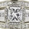 2.01 ct. Radiant Cut Bridal Set Ring, E, VS1 #4