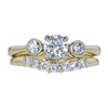 0.70 ct. Round Cut Bridal Set Ring, E, I1 #3