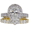 1.72 ct. Pear Cut Bridal Set Ring, G, SI2 #1