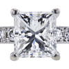 1.20 ct. Princess Cut Bridal Set Ring, F, SI2 #4