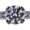 1.01 ct. Round Cut Bridal Set Ring, G, I1 #4