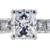 1.03 ct. Radiant Cut Bridal Set Ring, D, SI1 #4
