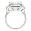 Art Deco GIA 7.31 ct. Asscher Cut 3 Stone Ring, I, I1 #4