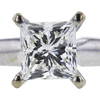 1.00 ct. Princess Cut Solitaire Ring, J, VS2 #4