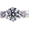 0.57 ct. Round Cut 3 Stone Ring, F, VVS2 #1