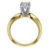 0.69 ct. Round Modified Brilliant Cut Bridal Set Ring, H, SI1 #1