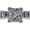 1.02 ct. Princess Cut Bridal Set Ring, F, VS1 #4