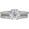 1.02 ct. Round Cut Bridal Set Ring, G, SI2 #3