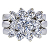 1.51 ct. Round Cut Bridal Set Ring, H, SI2 #3