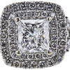 0.91 ct. Princess Cut Bridal Set Ring, F-G, I1 #1