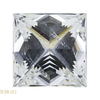 1.56 ct. Princess Cut Stud Earrings, H, SI1 #4