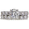 1.07 ct. Round Cut Bridal Set Ring, I, VS2 #3
