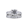1.23 ct. Round Cut Bridal Set Ring, E, VVS2 #4