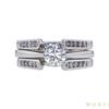 0.6 ct. Round Cut Bridal Set Ring, H-I, SI1 #2