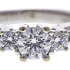 0.55 ct. Round Cut Bridal Set Ring, H, SI1 #4