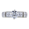 0.88 ct. Round Cut Bridal Set Ring, G, VVS2 #4