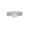 1.09 ct. Cushion Modified Cut Bridal Set Ring, G, VS1 #3