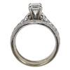 1.0 ct. Emerald Cut Bridal Set Ring, G, I1 #4