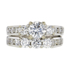 0.71 ct. Round Cut 3 Stone Ring, H, SI1 #3