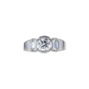 0.95 ct. Round Cut 3 Stone Ring, I-J, SI2-I1 #2
