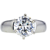 2.41 ct. Round Cut Solitaire Ring, J, I2 #1
