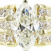 3.01 ct. Marquise Cut Solitaire Ring, K, I1 #4