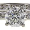 1.52 ct. Round Cut Bridal Set Ring, J, I1 #4