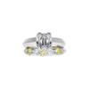 1.23 ct. Radiant Modified Cut Bridal Set Ring, H, VS1 #3