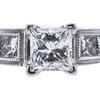 0.71 ct. Princess Cut Solitaire Ring, E, VS1 #4