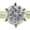 1.23 ct. Round Cut Solitaire Ring, H, I2 #4
