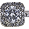 0.91 ct. Round Cut Bridal Set Ring, F, SI2 #4