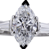 1.85 ct. Marquise Cut 3 Stone Ring #4