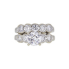 1.23 ct. Round Cut Bridal Set Ring, D, SI1 #3