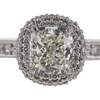 1.0 ct. Cushion Modified Cut Halo Ring, J, VS2 #4