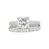 1.28 ct. Round Cut Bridal Set Ring, F, I1 #3