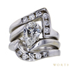 1.37 ct. Pear Cut Bridal Set Ring, H, I1 #3